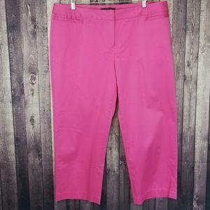 Lafayette 148 hot pink cropped dress pants